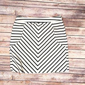 Cynthia Rowley striped jersey skirt